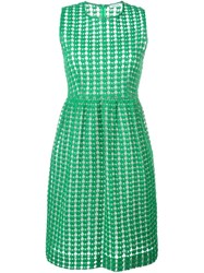 P.A.R.O.S.H. Embroidered Flared Dress Green