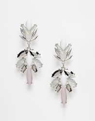 Paper Dolls Crystal Drop Statement Earrings Multi