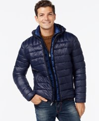 Tommy Hilfiger Men's Big And Tall Layered Packable Puffer Coat Midnight Navy