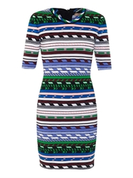 Christopher Kane Contrast Stripe Knit Dress