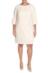 Plus Size Women's Eliza J Pocket Detail Shift Dress Blush