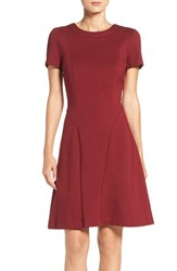 Adrianna Papell Women's Seamed Ponte Fit And Flare Dress