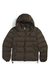 Men's Burberry Brit 'Basford' 2 In 1 Trim Fit Waterproof Down Insulated Puffer Jacket With Removable Sleeves Olive