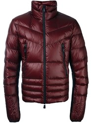 Moncler Grenoble Zip Front Padded Jacket Red