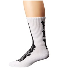 Huf Bones Sock White Crew Cut Socks Shoes