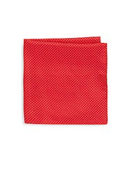 Saks Fifth Avenue Silk Dotted Pocket Square Red