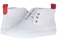 Del Toro Quilted Leather Chukka Sneaker White Men's Shoes