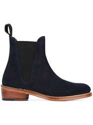 Grenson Chelsea Boots Blue