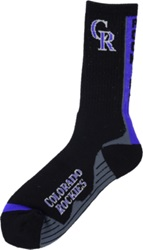 For Bare Feet Colorado Rockies Team Vortex Crew Socks Purple