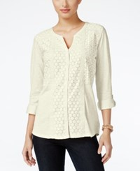 Styleandco. Style Co. Lace Shirt Only At Macy's Warm Ivory