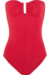 Eres Les Essentiels Cassiopee Bandeau Swimsuit Red