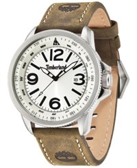 Timberland Men's Caswell Brown Leather Strap Watch 46X56mm Tbl14247js07