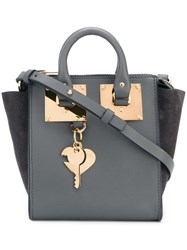 Sophie Hulme Key Chain Detail Tote Bag Grey