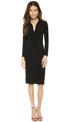 Norma Kamali Kamali Kulture Zipper Shirt Dress Black