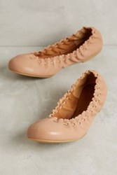 Anthropologie See By Chloe Ruched Leather Flats Beige