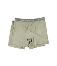Columbia Performance Cotton Stretch Boxer Briefs 2 Pack Dusty Olive Men's Underwear