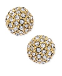 Charter Club Gold Tone Pave Ball Stud Earrings Only At Macy's
