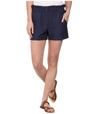 Bcbgmaxazria Addison Paper Bag Shorts Vintage Cobalt Women's Shorts Blue