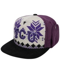 Top Of The World Tcu Horned Frogs Christmas Sweater Strapback Cap