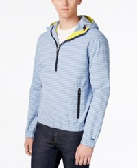 Tommy Hilfiger Men's Marina Anorak Striped Hoodie Diamond Blue