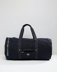 Fred Perry Large Canvas Duffle Bag Navy