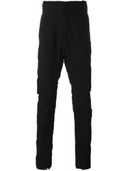 Masnada Gathered Tapered Trousers Black