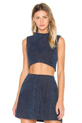 Lucy Paris Cassy Crop Top Navy