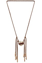 Torchlight Pyrite Vagabond Necklace Brown