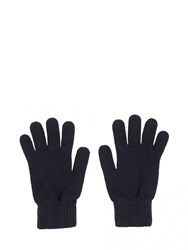 Johnstons Of Elgin Cashmere Mens Gloves Blue