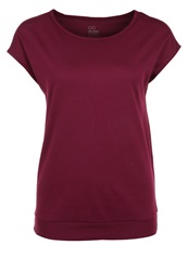 Evenandodd Active Basic Tshirt Bordeaux