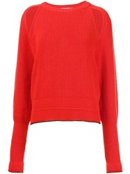 Givenchy Cut Out Detail Sweater Red