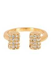 Trina Turk Pave Bar Ring White