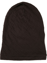 Isabel Benenato Textured Beenie Hat Blue