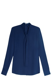 Theory Woven Top Blue