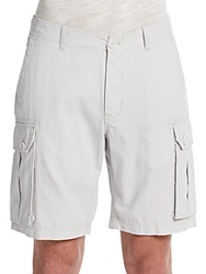 Saks Fifth Avenue Blue Ripstop Cargo Shorts Stone