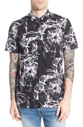 Men's Antony Morato '9000' Trim Fit Short Sleeve Print Woven Shirt