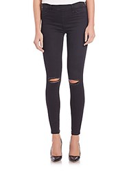 True Religion Distressed Runway Leggings Smoke