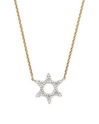 Bloomingdale's Diamond Star Of David Pendant Necklace In 14K Yellow Gold .20 Ct. T.W.