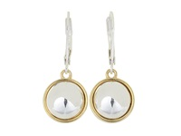 Lauren Ralph Lauren 12Mm Button Drop Gold Silver Earring