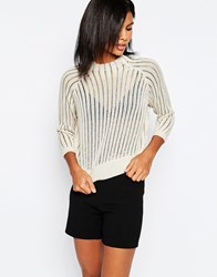 Only Chunky Knit Cropped Jumper Beige