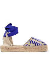 Manebi Canvas Espadrilles Blue