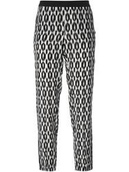 Nude Ikat Print Trousers Black