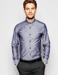 Selected Homme Long Sleeve Smart Shirt In 100 Cotton In Regular Fit Pirate Black