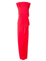 Vionnet Sleeveless Gown Dress Pink And Purple