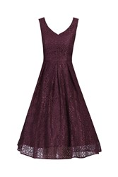 Jolie Moi Sweetheart Pleated Lace Dress Red