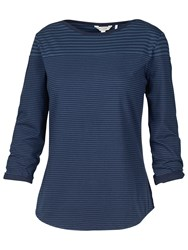 Fat Face Thursley Tonal Stripe T Shirt Navy