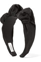 Jennifer Behr Silk Satin Headband Black