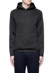 Theory 'Ormond Ph' Scuba Jersey Hoodie Black