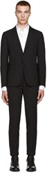 Dsquared Black Wool Paris Suit