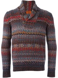 Missoni Striped V Neck Pullover Multicolour